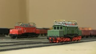 TT scale model trains 020: DR BR254 (krokodil) and V36 from BTTB