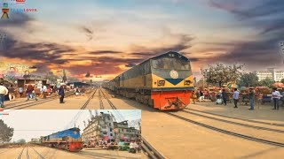 Egarosindur Express And Rangpur Express  In a Airport Lavel Crossing ??