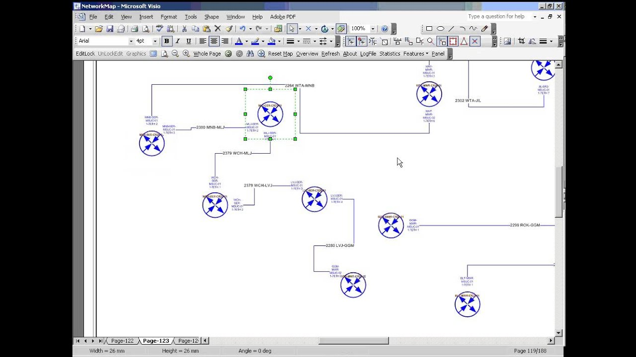 Automated Network Diagram Using MS Visio YouTube