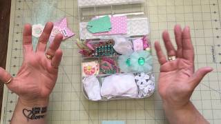 Opening a first Embellishment Box from Anna