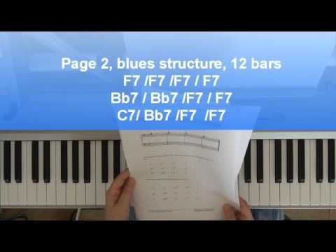 Piano lessons: 12 Bar Blues in key F