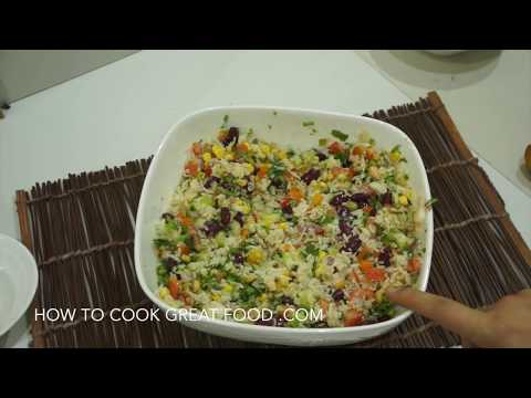 Mexican Rice Salad Recipe - Super Easy Healthy & Vegan