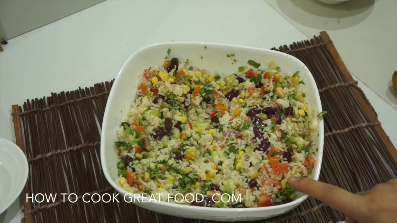 Mexican rice salad recipe super easy healthy vegan youtube forumfinder Gallery