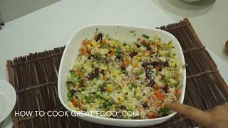 Mexican Rice Salad Recipe - Super Easy Healthy & Vegan