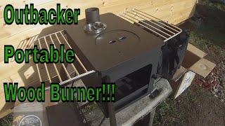 Portable Wood Burner / Outbacker Mini Stove / Camper Van / Tent / Shed