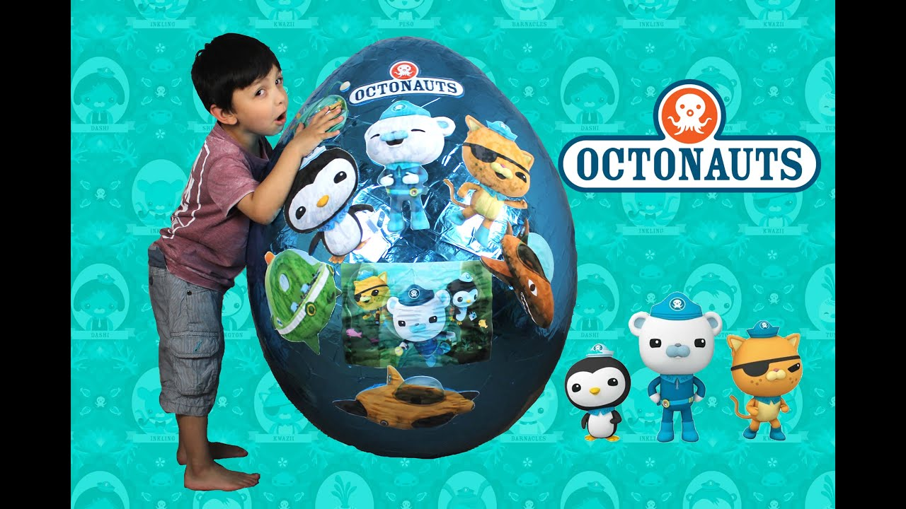 Octonauts giant egg surprise opening toys for kids by hitzhtoys
