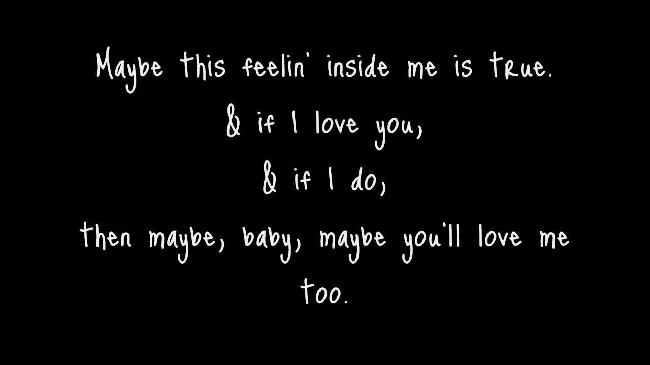 Lenka - Maybe I Love You - Lyrics HD - YouTube