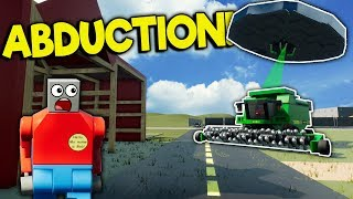 LEGO FARMING SIM TURNS INTO UFO ABDUCTION! - Brick Rigs Roleplay Gameplay - Lego Farming Toys