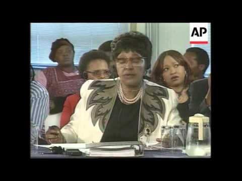 SOUTH AFRICA: WINNIE MANDELA TRUTH COMMISSION HEARING UPDATE