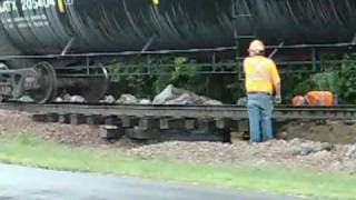 BNSF Track Ballast Washed Away