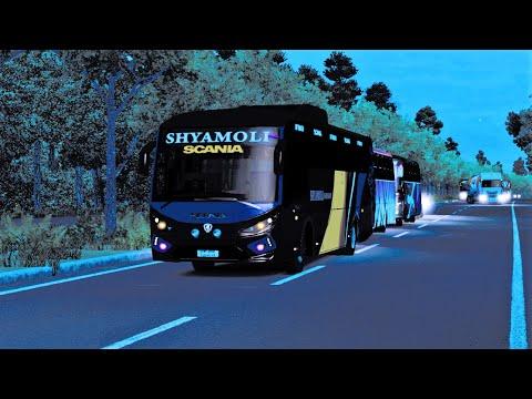 #RouteRequest Dhaka to Khagrachari to Bandarban   Shyamoli Paribahan   Scania K360iB   Night Drive  