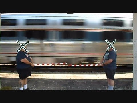Amtrak Budget Cuts Hires Human Crossing Signals