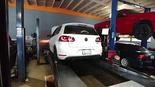 MK6 2012 Volkswagen GTI Stratified Auto Crackle and Pop Tune Stage 2 Dyno