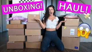 HUGE UNBOXING HAUL! *New/Favorite Makeup & Clothes*