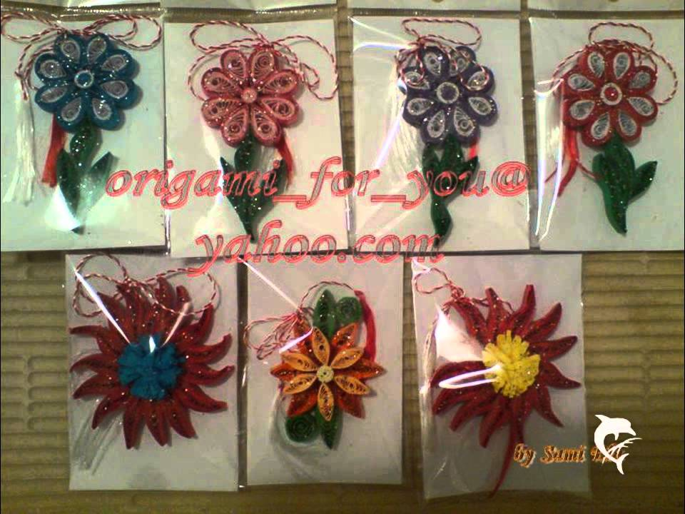 Papercraft Felicitari, cosulete, martisoare - quilling/origami