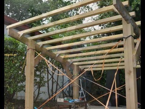 Como hacer una p rgola de madera pasos de montaje youtube - Como construir una pergola de madera ...