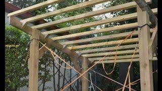 Como hacer una pérgola de madera : pasos de montaje