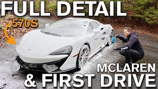 FULL DETAIL on White Paint and First Drive McLaren 570S