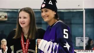 Megan Keller makes surprise visit to hometown rink