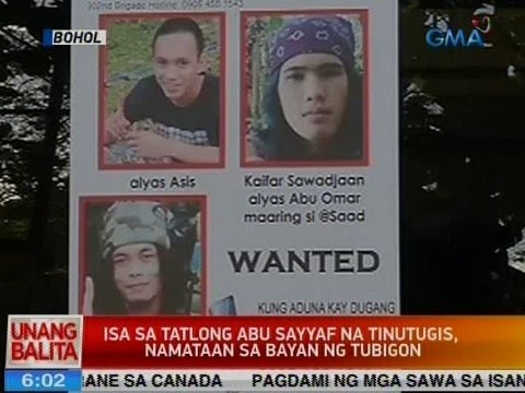 UB: 1 sa 3 Abu Sayyaf na tinutugis, namataan sa bayan ng Tubigon sa Bohol