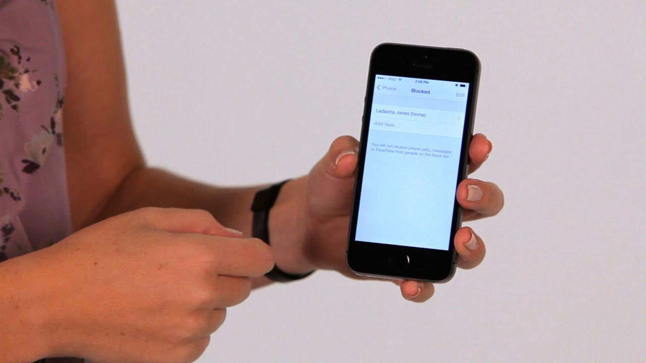 How to Block a Phone Number  iPhone Tips - YouTube