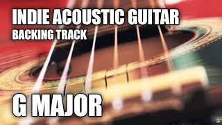Indie Acoustic Guitar Backing Track In G Major / E Minor (Version 2)