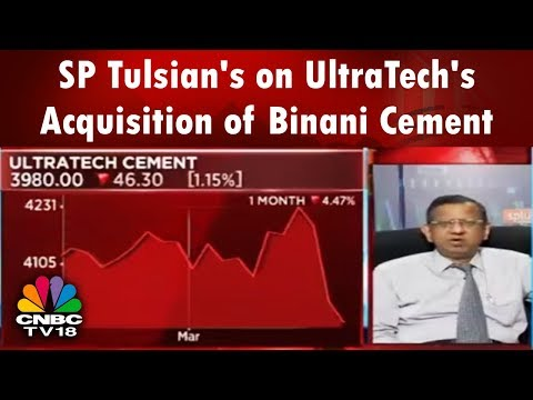 SP Tulsian's Views on UltraTech Cement's Decision to buy Binani Cement, Shilpa Medicare, Infra Stock