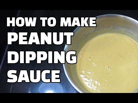 Peanut Dipping Sauce - Peanut Butter Sauce - Super Easy