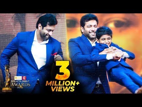 FIRST TIME EVER: Jayam Ravi's Cute Dance for his Son Aarav | Kurumba | Galatta Debut Awards