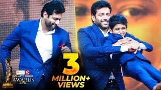 FIRST TIME EVER: Jayam Ravi's Cute Dance for his Son Aarav | Kurumba | Galatta Debut Awards