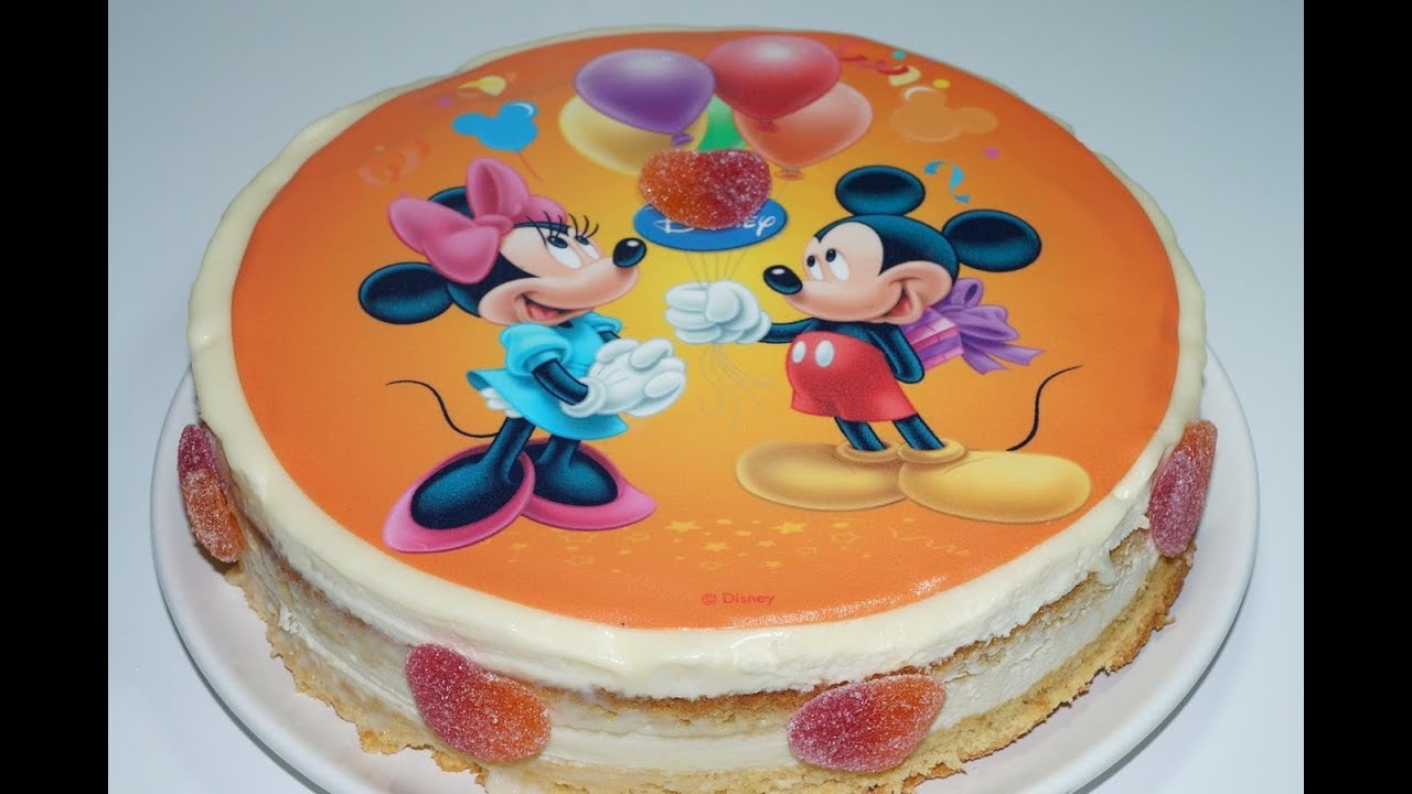 Gut bekannt GATEAU MICKEY ET MINNIE AU CHOCOLAT BLANC (CUISINERAPIDE) - YouTube NB07