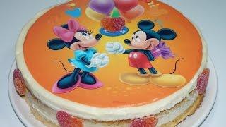 Gateau Mickey Et Minnie Au Chocolat Blanc (cuisinerapide)