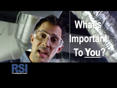 How To Do What's Important To You - The Refrigeration School