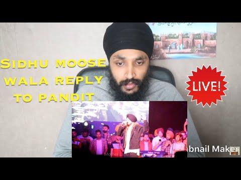 CHITHA   Sidhu Moose Wala   live Chandigarh 2018   Reaction