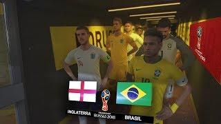 RUSIA 2018 - BRASIL VS INGLATERRA POR UN PASO A LA SEMIFINAL - PES 2018