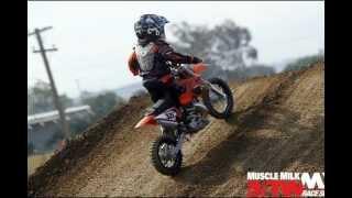 4 Year Old Kid Riding KTM 50 SX Dirt Bike