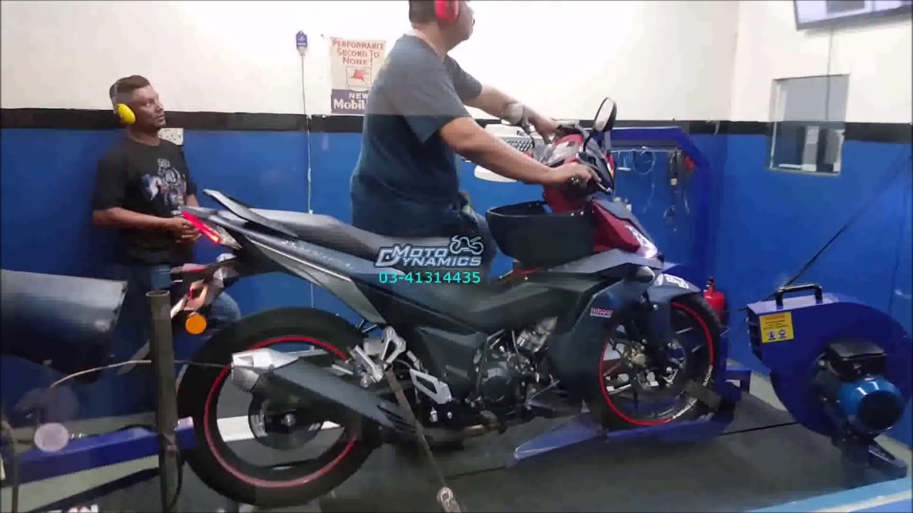 Honda RS150R ApiTech ECU Dyno Tuning - Motodynamics Technology Malaysia