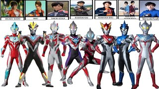 Nama seluruh ultraman and host 1966 to 2019