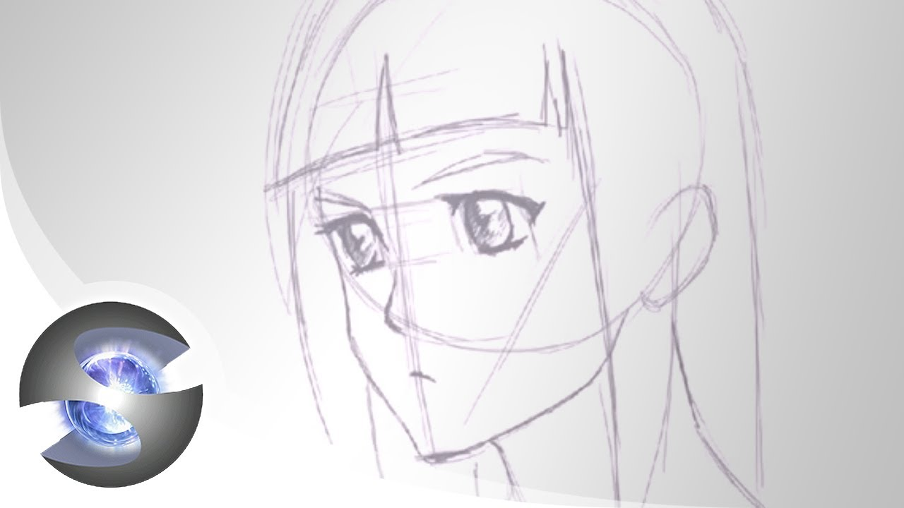 Drawing An Anime Face Side 34 View Youtube