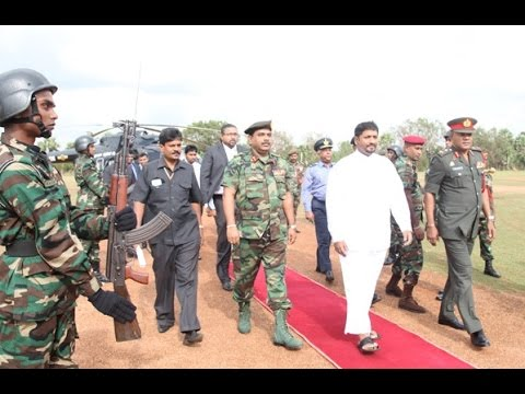 The State Minister of Defence Hon. Ruwan Wijewardene first visit to the SF HQ (Kilinochchi)