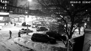 Запись с уличной поворотной IP камеры Zodikam 307 (1920x1080, вечер)
