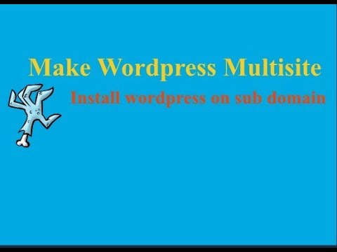 Learn WordPress multisite website developing and subdomain installation using file manager