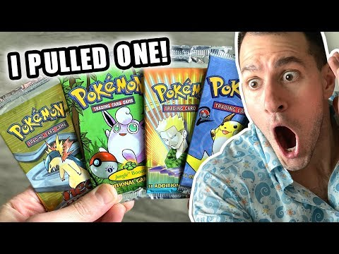 *I PULLED A 1ST EDITION HOLO POKEMON CARD!* Opening Pokemon Cards VINTAGE Packs!