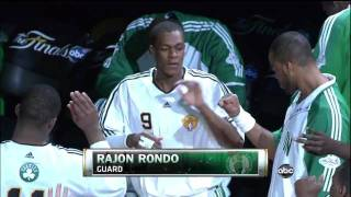 Intro of Boston Celtics in GM 5 Finals 2010 VS Lakers