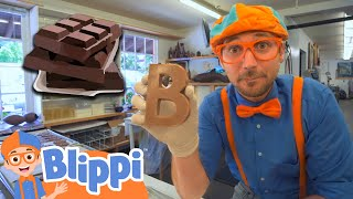 Download lagu Blippi Visits A Chocolate Factory | Educational Videos For Kids