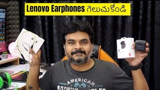 Lenovo Wireless Sport amp True Wireless Earbuds Unboxing Review amp Giveaway ll in Telugu ll