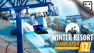 Обзорный стрим игры Winter Resort Simulator Season 2 Cимулятор горнолыжного курорта