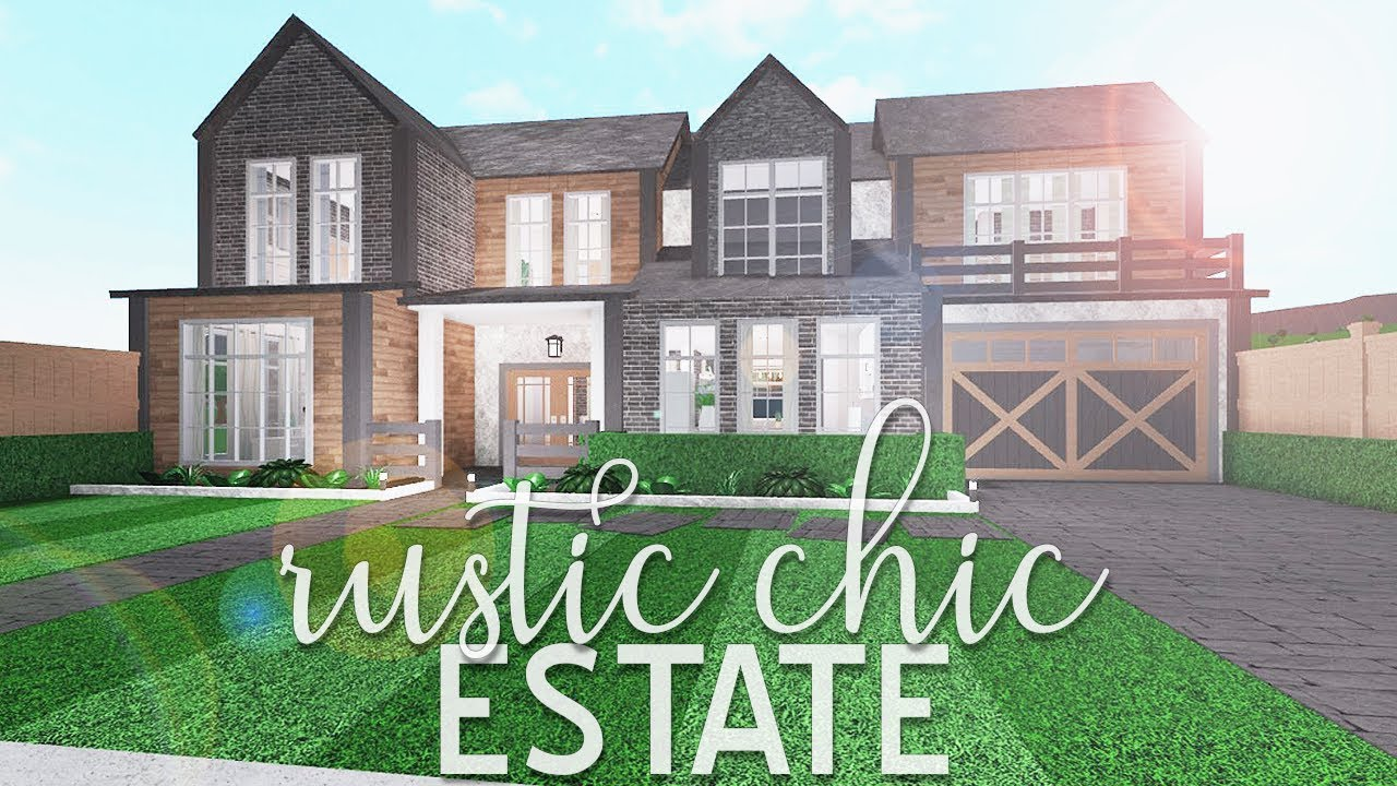 ROBLOX | Bloxburg: Rustic Chic Estate 81k - YouTube