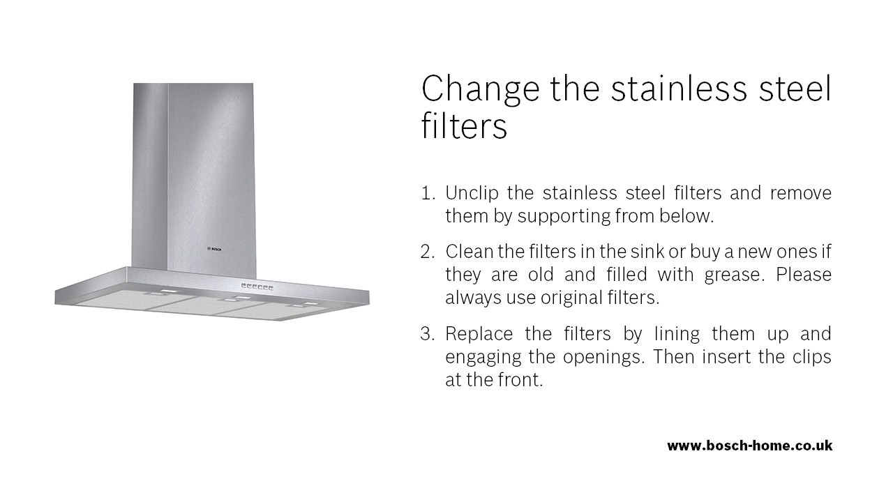 How do I change my extractor hood\'s stainless steel filters? - YouTube