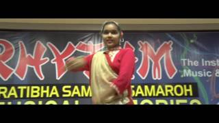 Madhavi a Rhythm Student Performing Kathak